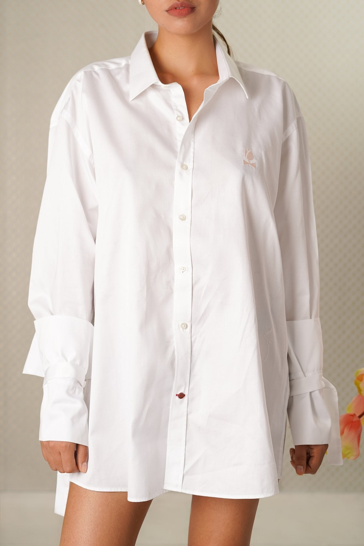 Navy Tulip Dress Shirt-JC Lagares official website | JCL.