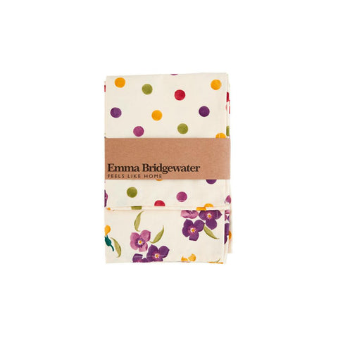 Polka Dot/Wallflowers Set of 2 Tea Towels