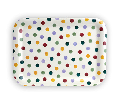Polka Dot Large Melamine Tray