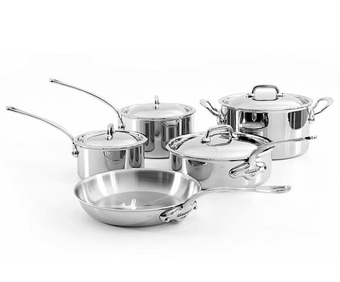 Mauviel M'Cook 9 Piece Stainless Cookware Set