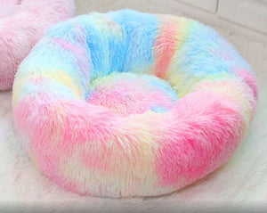 Rainbow marshmallow cat bed
