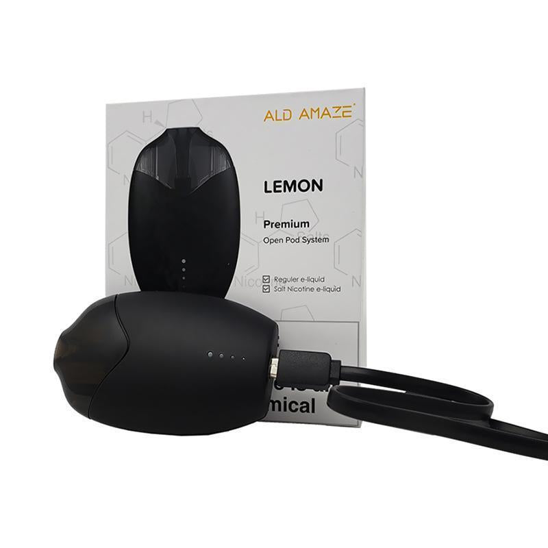 Blue Moon Hemp - CBD Pod Device - Lemon Open Pod System - Black