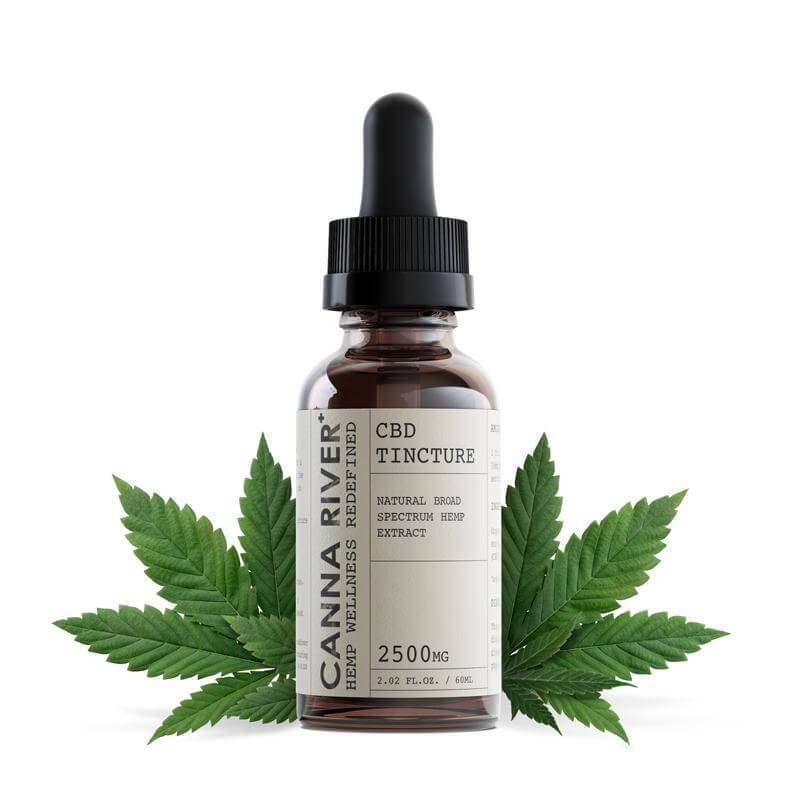 Canna River - CBD Tincture - Broad Spectrum Natural - 1000mg-5000mg