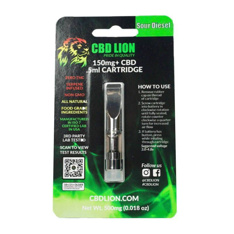 CBD Lion - CBD Cartridge - Sour Diesel - 150mg
