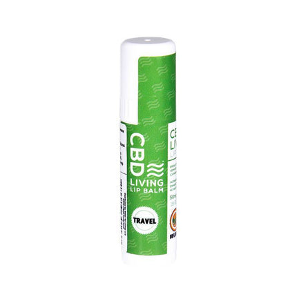 CBD Living - CBD Topical - Travel Sized Lip Balm Unflavored - 50mg-buy-CBD-online