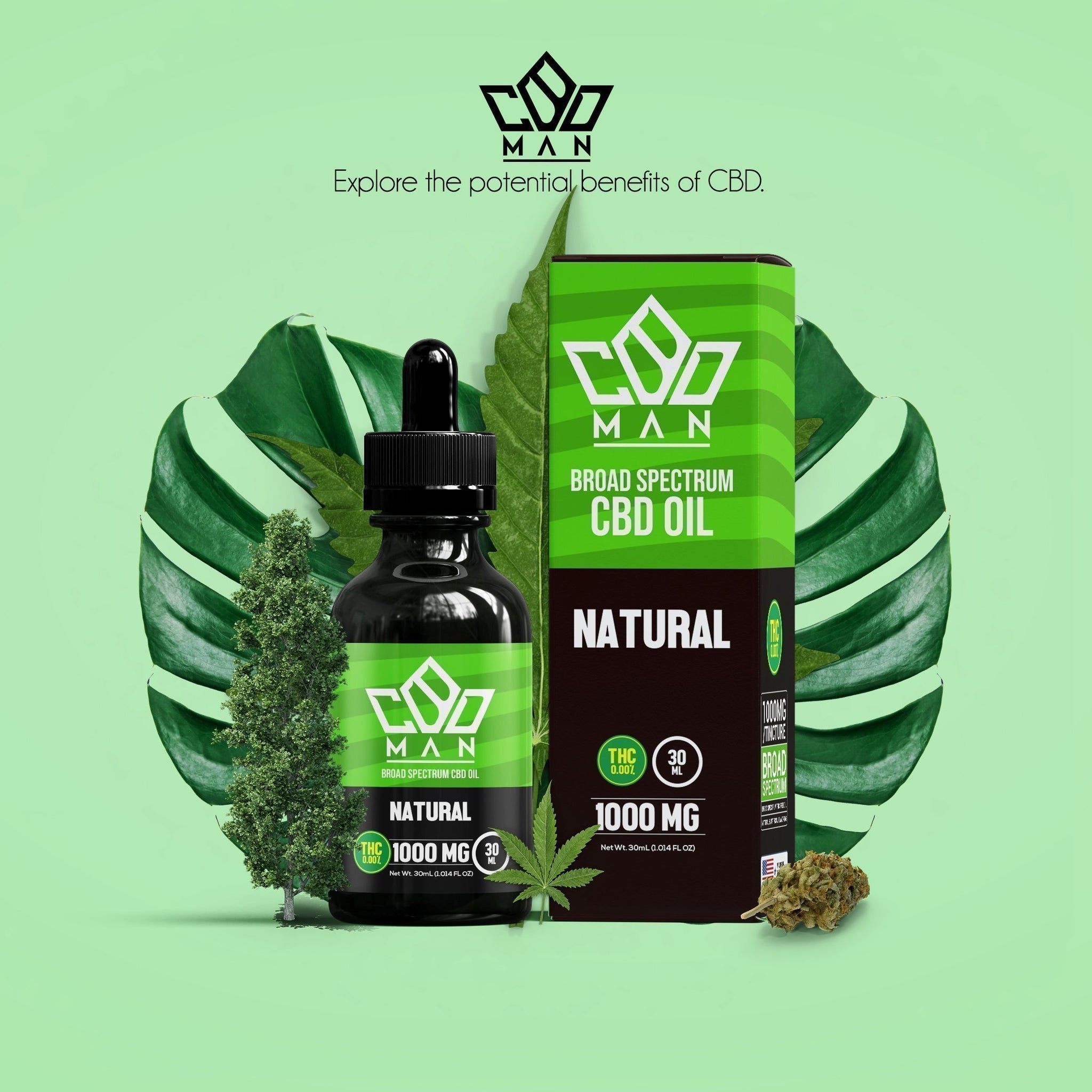 CBD MAN - CBD Oil - Natural- 1000mg
