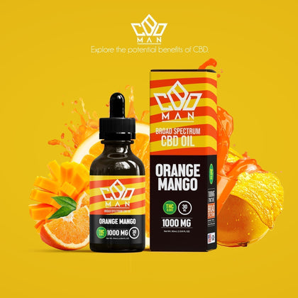 CBD MAN - CBD Oil - Orange Mango - 1000mg-buy-CBD-online