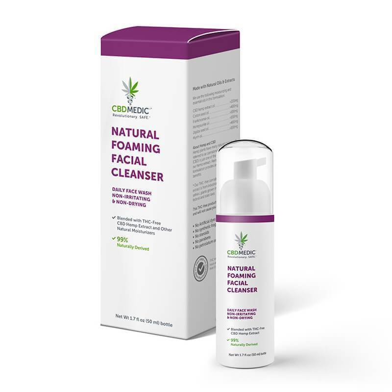 CBD Medic - CBD Topical - Natural Foaming Facial Cleanser