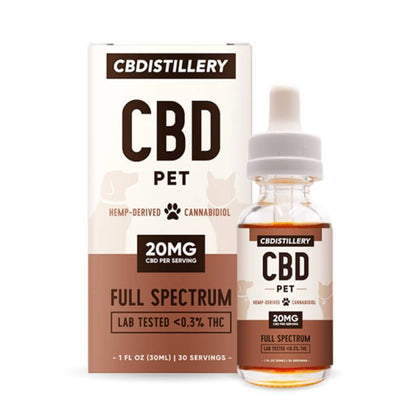 CBDistillery - CBD Pet Tincture - Full Spectrum - 600mg-buy-CBD-online