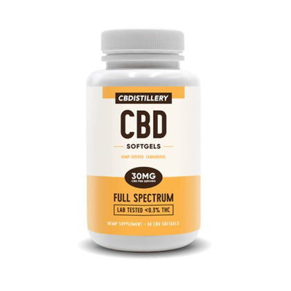 CBDistillery - CBD Softgels - 30 Count Full Spectrum - 30mg-buy-CBD-online