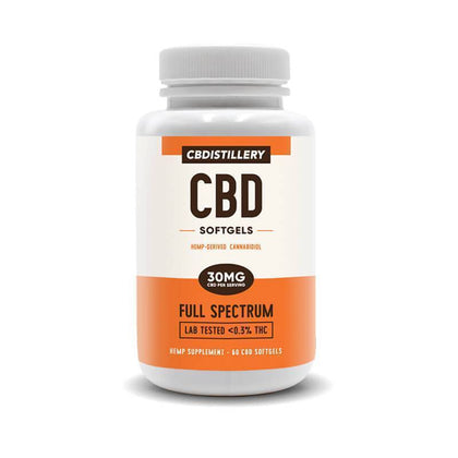 CBDistillery - CBD Softgels - 60 Count Full Spectrum - 30mg-buy-CBD-online