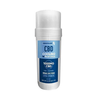 CBDistillery Rx - CBD Topical - Extra Strength Broad Spectrum Relief Stick - 1000mg-buy-CBD-online