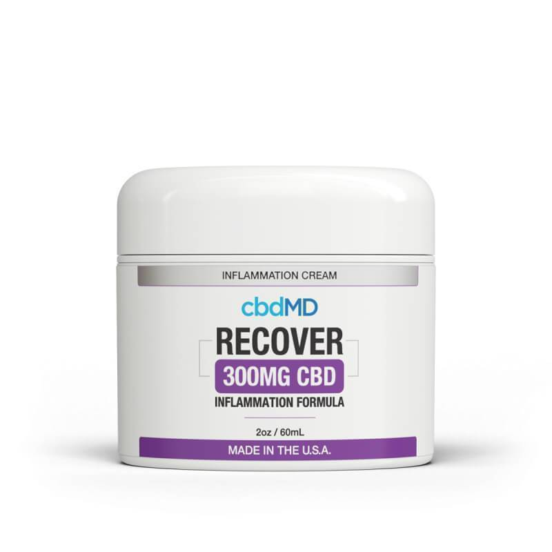 cbdMD - CBD Topical - Recover Inflammation Cream - 300mg-1500mg