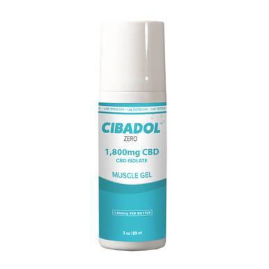 Cibadol ZERO - CBD Topical - Muscle Gel Roll-On - 1800mg-buy-CBD-online