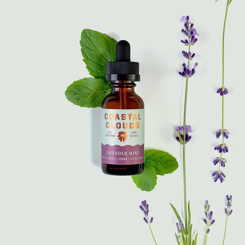 Coastal Clouds - CBD Tincture - Full Spectrum Lavender Mint - 750mg-1500mg