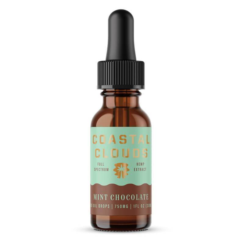 Coastal Clouds - CBD Tincture - Full Spectrum Mint Chocolate - 750mg-1500mg