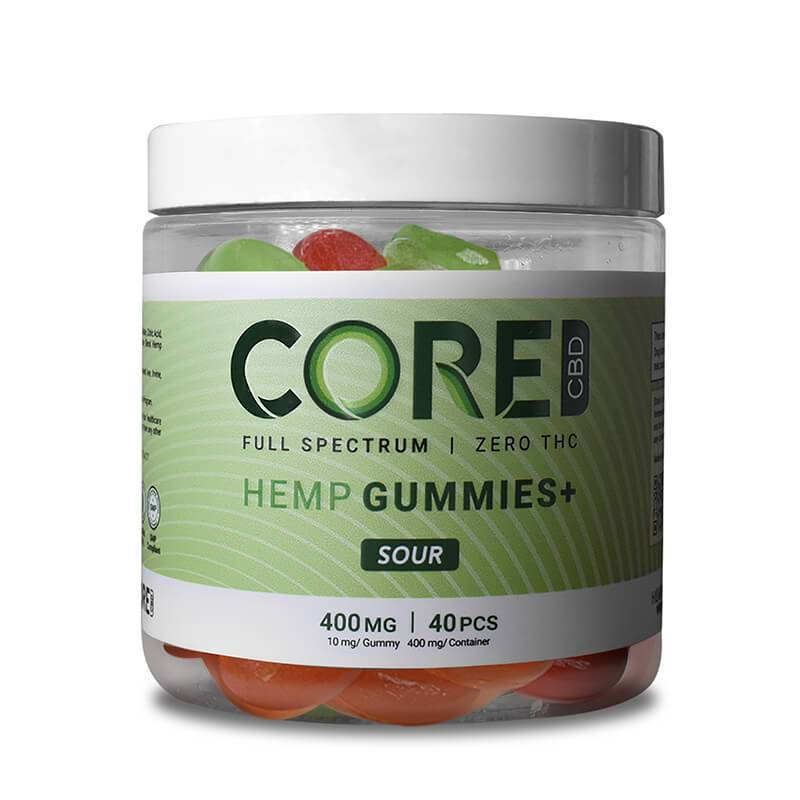 Core CBD - CBD Edible - Sour Gummies - 400mg