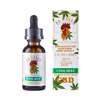 El Gallo - CBD Tincture - Cool Mint - 500mg-buy-CBD-online