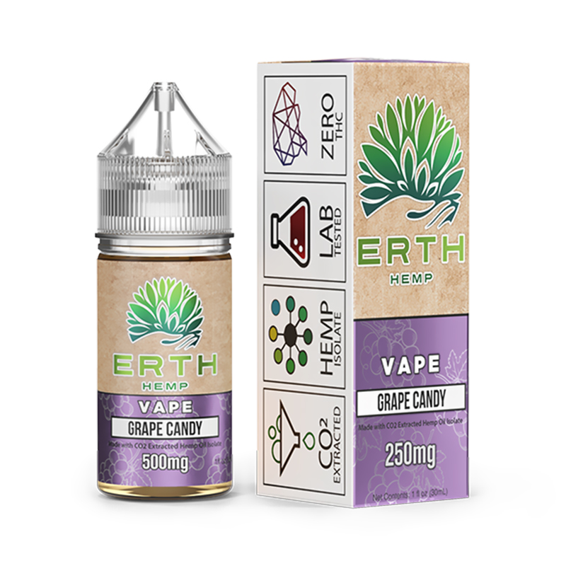 ERTH - CBD Vape Juice - Grape Candy - 250mg