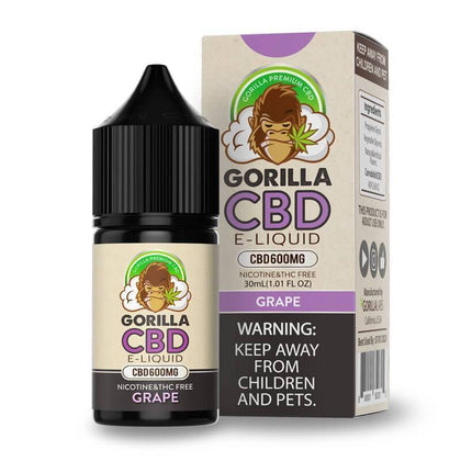 Gorilla CBD - CBD Vape Juice - Grape - 600mg-buy-CBD-online
