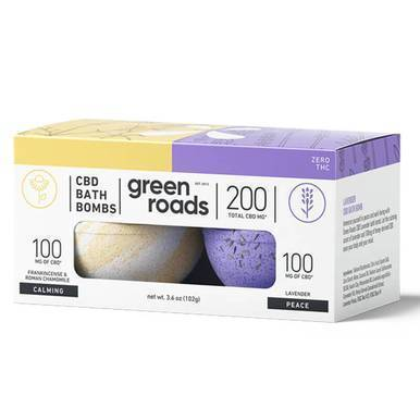 Green Roads - CBD Bath - Calming & Peace Bath Bomb Duo - 100mg-buy-CBD-online