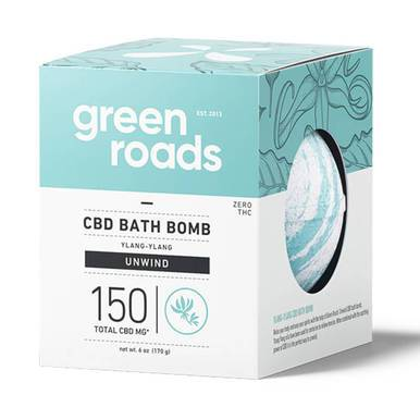 Green Roads - CBD Bath - Unwind Bath Bomb - 150mg-buy-CBD-online