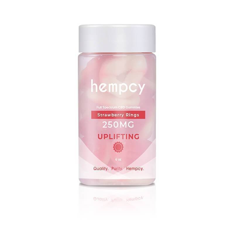 Hempcy - CBD Edible - Strawberry Ring Gummies - 250mg-1000mg