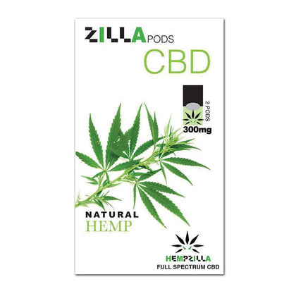 Hempzilla - CBD Pod - Natural Hemp Zilla Pods - 2pc-300mg-buy-CBD-online