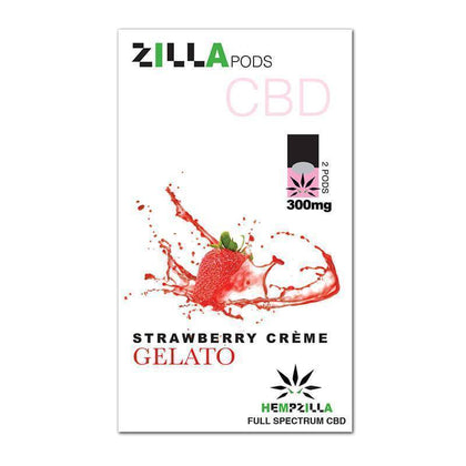 Hempzilla - CBD Pod - Strawberry Creme Zilla Pods - 2pc-300mg-buy-CBD-online