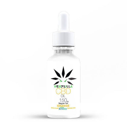 Hempzilla - CBD Tincture - Orange - 150mg-1200mg-buy-CBD-online