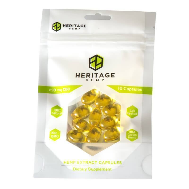 Heritage Hemp - CBD Soft Gels - 10 Count - 25mg