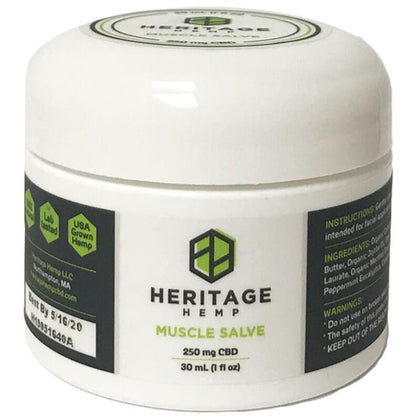 Heritage Hemp - CBD Topical - Muscle Salve 30ml - 250mg-buy-CBD-online