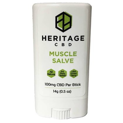 Heritage Hemp - CBD Topical - Muscle Salve Stick - 100mg-buy-CBD-online