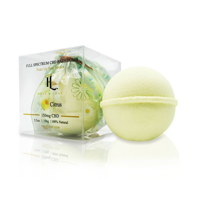 Holy Leaf - CBD Bath - Citrus Bath Bomb - 150mg