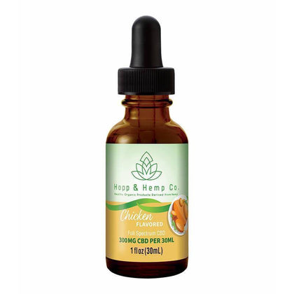 Hopp And Hemp Co - CBD Pet Tincture - Full Spectrum Chicken Flavor- 300mg-buy-CBD-online