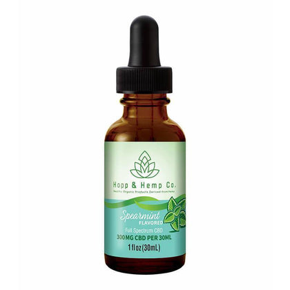 Hopp And Hemp Co - CBD Tincture - Spearmint - 300mg-500mg-buy-CBD-online