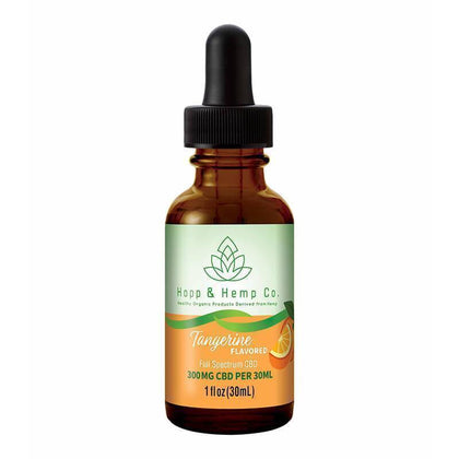 Hopp And Hemp Co - CBD Tincture - Tangerine - 300mg-500mg-buy-CBD-online