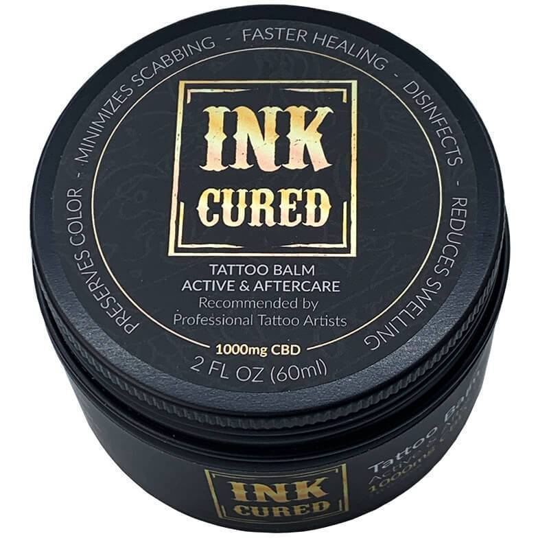 Ink Cured - CBD Topical - Active & After Care Tattoo Balm - 500mg-100mg