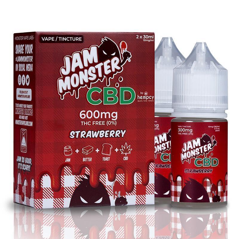 Jam Monster CBD - CBD Vape - Strawberry - 600mg-2400mg