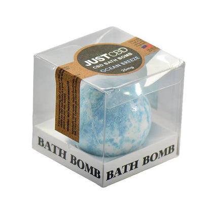 JustCBD - CBD Bath - Ocean Breeze Bath Bomb - 25mg-buy-CBD-online