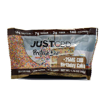 JustCBD - CBD Edible - Birthday Cake Protein Bar - 25mg-buy-CBD-online