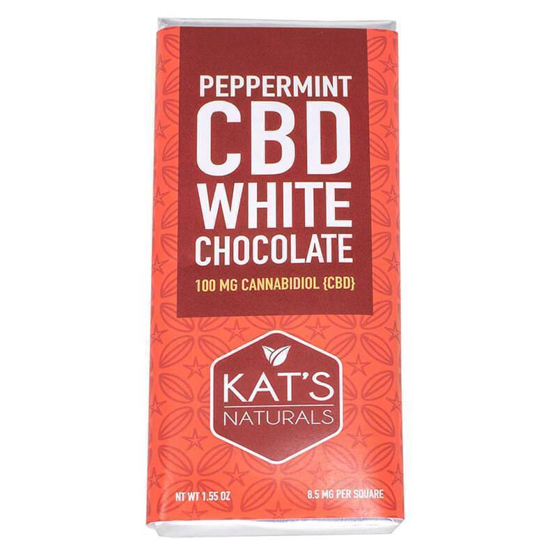 Kat's Naturals - CBD Edible - White Chocolate Hemp Bar - 100mg