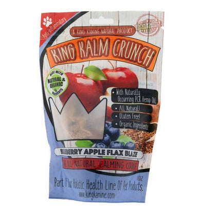 King Kalm - CBD Pet Edible - Blueberry Apple Flax Crunch - 120mg-buy-CBD-online