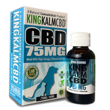 King Kalm - Pet Tincture - Omega-3 and Krill Oil - 75mg-300mg-buy-CBD-online
