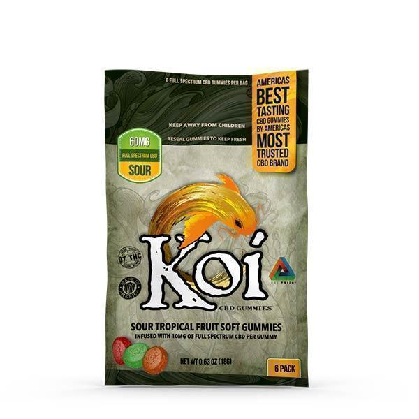 Koi CBD - CBD Edible - Sour Tropical Fruit Gummies - 10mg