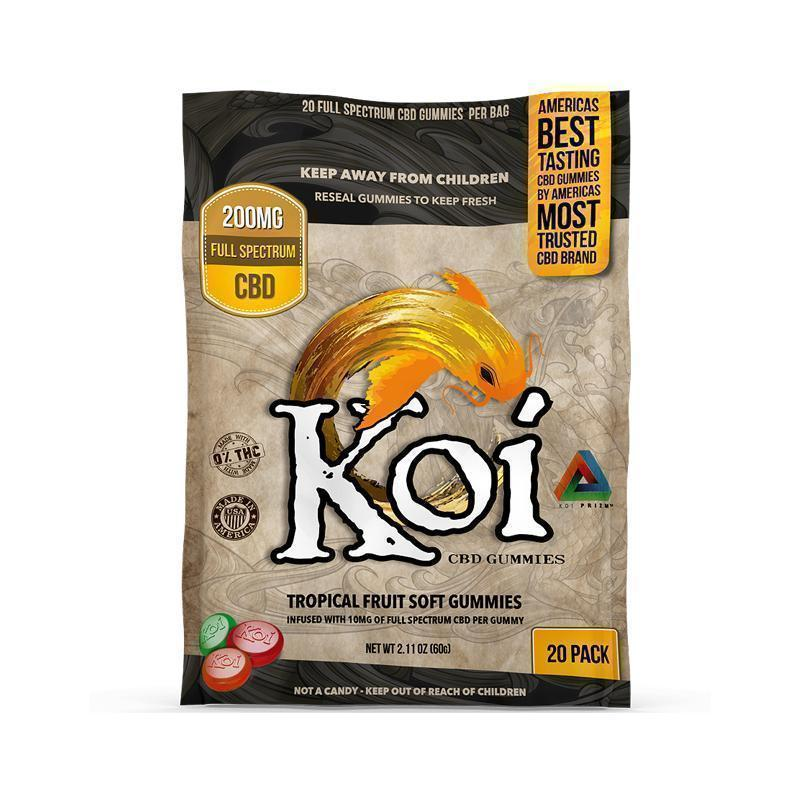 Koi CBD - CBD Edible - Tropical Fruit Gummies - 10mg