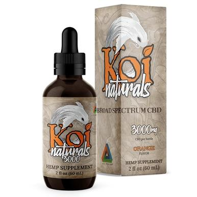 Koi CBD - CBD Tincture - Broad Spectrum Orange - 250mg-3000mg