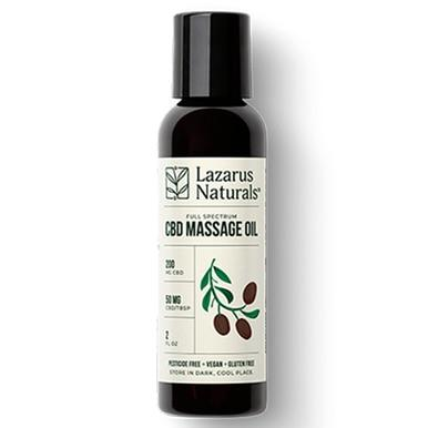 Lazarus Naturals - CBD Topical - Massage Oil 200mg-1600mg
