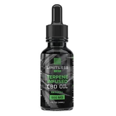 Limitless CBD - CBD Tincture - Terpene Infused Oil Natural Flavor - 500mg-2500mg