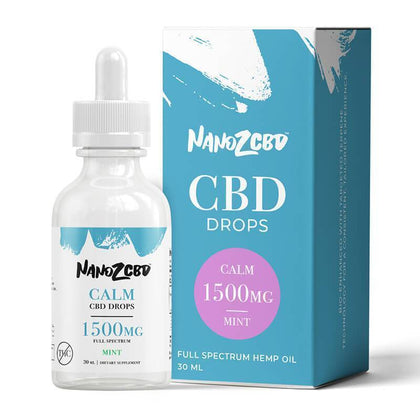 Nano Z CBD - CBD Tincture - Full Spectrum Mint Calm Drops - 1500mg-buy-CBD-online